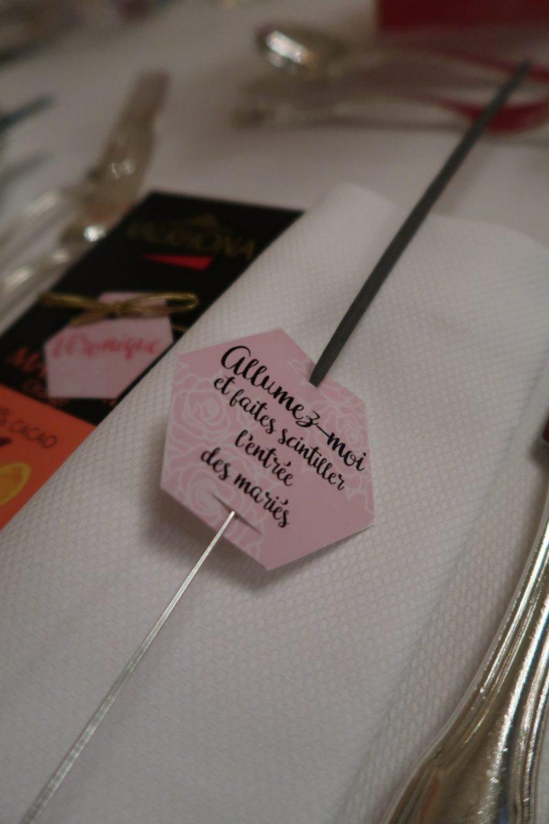 Étiquettes personnalisées pour cierges magiques rose